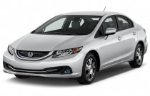 2015 Honda Civic Hybrid 4-door Sedan L4 CVT Angular Front Exterior View