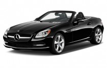 2015 Mercedes-Benz SLK Class 2-door Roadster SLK350 Angular Front Exterior View
