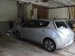 2015 Nissan Leaf charging back at home after 1,000-mile road trip   [photo John Briggs]