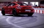 2015 Porsche Cayman GTS Meets A Go-Kart Track: Video