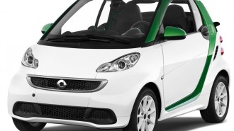 2015 Smart fortwo electric drive 2-door Cabriolet Passion Angular Front Exterior View