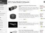 """2015 Tesla Model X exhaust systems"" on CARiD.com."