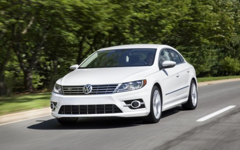 volkswagen cc first motion three quarter front test in cars