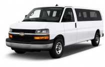 "2016 Chevrolet Express Passenger RWD 3500 155"" LS w/1LS Angular Front Exterior View"