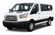 "2016 Ford Transit Wagon T-150 130"" Low Roof XLT Sliding RH Dr Angular Front Exterior View"