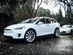 2016 Tesla Model X with 2011 Tesla Roadster Sport, photographed by owner Bonnie Norman