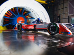 2018/2019 Mahindra Racing M5Electro Formula E race car in Pininfarina's wind tunnel
