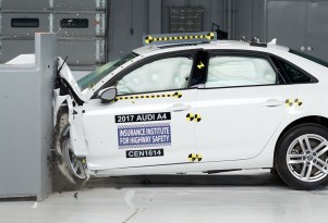 2017 Audi A4 in IIHS crash testing