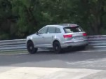 2017 Audi SQ7 prototype crash