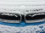 2017 BMW i3 electric car during winter snow storm  [photo: owner Chris Neff]