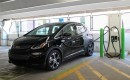 2017 Chevrolet Bolt EV electric car at EVgo fast-charging station, Newport Centre, Jersey City, NJ
