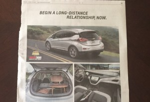Yes, ads for the Chevy Bolt EV electric car do actually exist; here's one