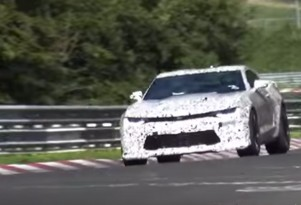 2017 Chevrolet Camaro 1LE testing at the Nürburgring