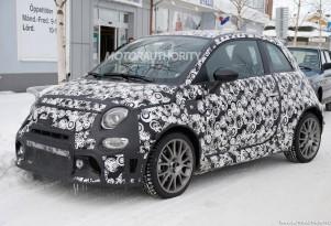 2017 Fiat 500 Abarth facelift spy shots - Image via S. Baldauf/SB-Medien