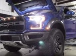 2017 Ford F-150 Raptor strapped to a dyno