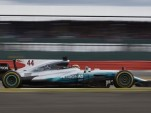Mercedes AMG's Lewis Hamilton at the 2017 Formula One British Grand Prix
