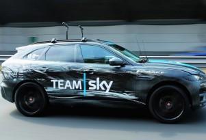 2017 Jaguar F-Pace serves as 2015 Tour de France support vehicle