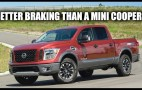 How can the Nissan Titan brake quicker than a Mini?