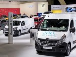 2017 Renault Master ZE and Kangoo ZE (background) electric delivery vans