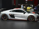 2018 Audi R8 LMS GT4 race car, 2017 New York auto show