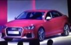 U.S.-bound Audi RS 3 sedan shown during dealer presentation
