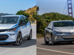 2018 Chevrolet Bolt EV electric car and 2018 Chevrolet Volt plug-in hybrid