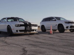 2018 Dodge Challenger SRT Hellcat Widebody versus Jeep Grand Cherokee Trackhawk