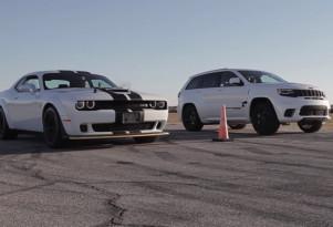 2018 Dodge Challenger SRT Hellcat Widebody versus Jeep Grand Cherokee Trackhawk