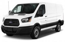 "2018 Ford Transit Van T-150 130"" Low Rf 8600 GVWR Sliding RH Dr Angular Front Exterior View"