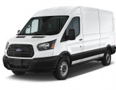 """2018 Ford Transit Van T-250 148"""" Med Rf 9000 GVWR Dual Dr Angular Front Exterior View"""