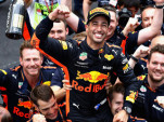Daniel Ricciardo after winning the  2018 Formula 1 Monaco Grand Prix
