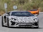 2018 Lamborghini Aventador facelift spy shots - Image via S. Baldauf/SB-Medien