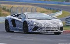 2018 Lamborghini Aventador spy shots and video