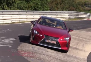 2018 Lexus LC500 spotted running around the Nürburgring