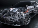 Looking at Lexus multi-stage hybrid system in new LS sedan, LC coupe