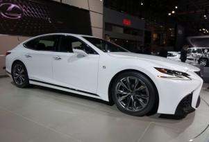2018 Lexus LS 500 F-Sport, 2017 New York auto show