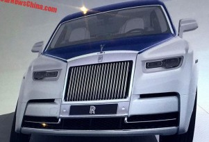 2018 Rolls-Royce Phantom leaked - Image via CarNewsChina