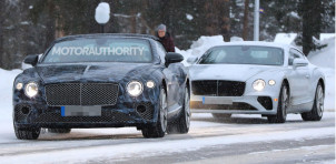 2019 Bentley Continental GT Convertible spy shots - Image via S. Baldauf/SB-Medien