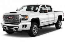 "2019 GMC Sierra 2500HD 4WD Crew Cab 153.7"" Denali Angular Front Exterior View"