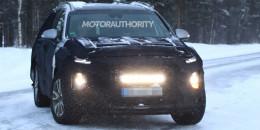 2019 Hyundai Santa Fe spy shots - Image via S. Baldauf/SB-Medien