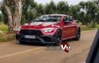 Mercedes-AMG GT sedan sheds camo for revealing red wrap