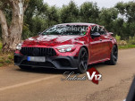 2019 Mercedes-AMG GT sedan in red wrap - Image via Salento V12 Facebook page