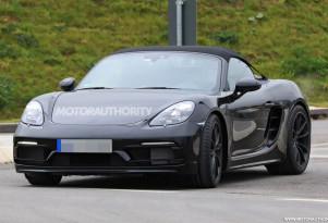2019 Porsche 718 Boxster Spyder spy shots - Image via S. Baldauf/SB-Medien