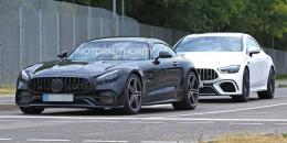 2020 Mercedes-AMG GT facelift spy shots - Image via S. Baldauf/SB-Medien