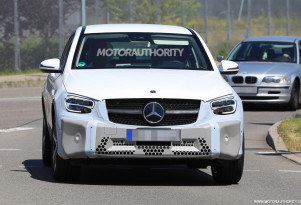 2020 Mercedes-Benz GLC Coupe facelift spy shots - Image via S. Baldauf/SB-Medien