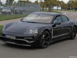 2020 Porsche 'Mission E' electric sedan spy shots - Image via S. Baldauf/SB-Medien
