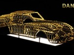 24-karat gold Ferrari 250 GTO sculpture by Dante