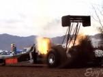 7,000-horsepower dirt dragster launches