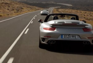 991 Porsche 911 Turbo Cabriolet in motion