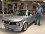 A BMW 2002 stops by Jay Leno's Garage
